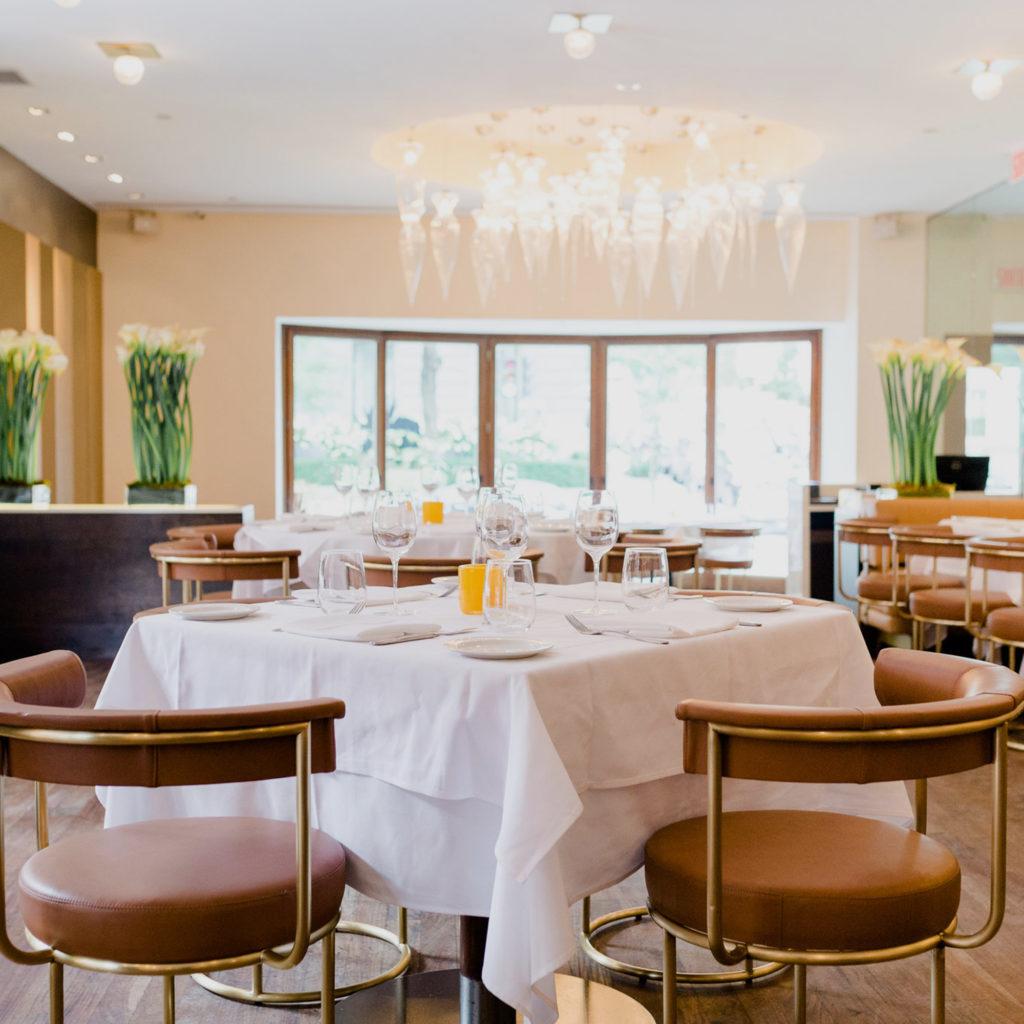 The main dining room at Ristorante Beatrice.
