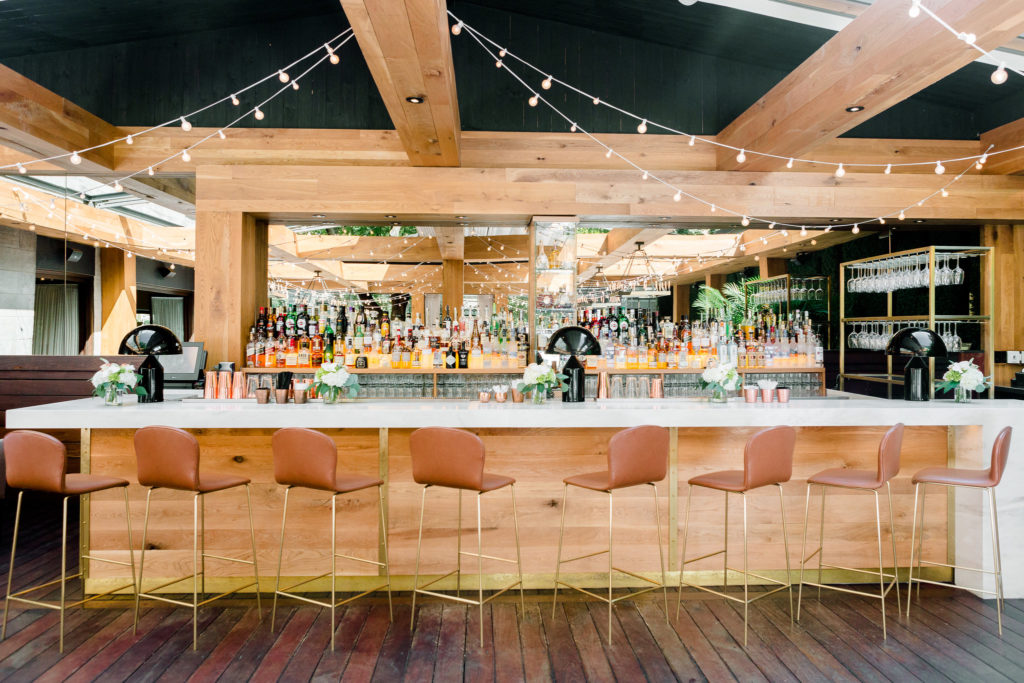 The bar at Ristorante Beatrice.