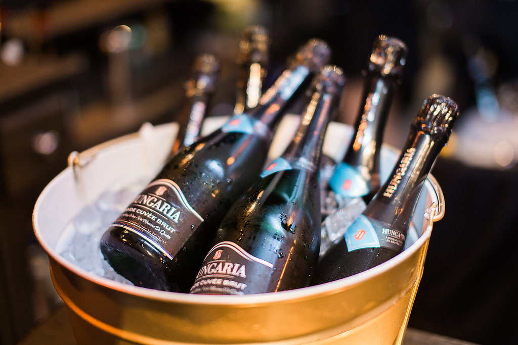 Champagne served at an event held at Ristorante Beatrice.