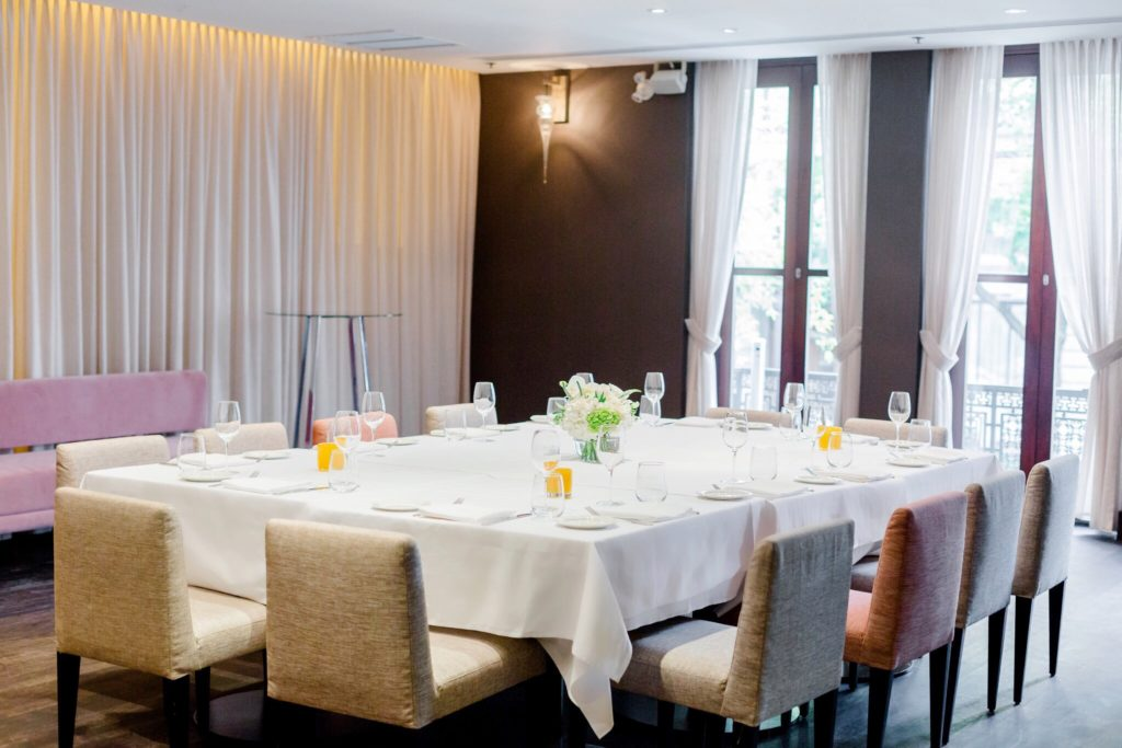 A private dining room at Ristorante Beatrice.